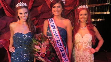 Gabbi Ryan, 18, from Swafield, (left) who came third in the Miss Teen Great Britain, with competitio