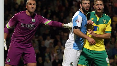 Is Norwich City defender Michael Turner tired of bothering to go up for corners? Picture by Paul Che