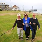 Cromer wins the Walkers are Welcome status. Campaigners, left to right, Don Davenport, Julie Chance