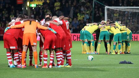 Norwich City and Charlton prepare to do battle at Carrow Road earlier this week.
