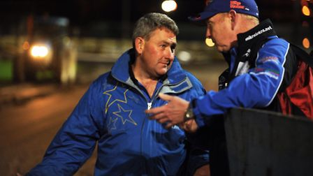 Buster Chapman chats to Neil Middleditch. Picture: Ian Burt