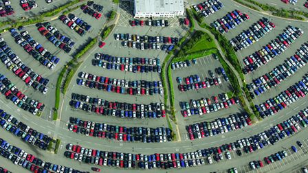The Norfolk and Norwich University Hospital car park from the air. Photo: Mike Page