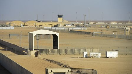 Compounds lie completely empty and deserted of troops on Camp Bastion, Helmand Province, Afghanistan