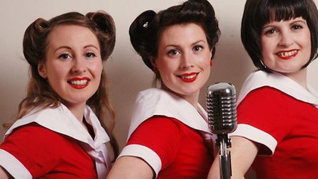 1940s-style close harmony group the Honeybirds, who will be performing at the Sea Marge Hotel, Overs