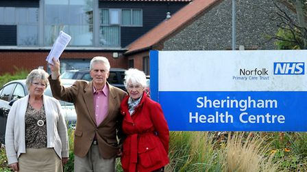 Sheringham Medical Practice Patient Participation Group members, left to right, Avril Duke-Millar, K