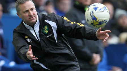 Norwich City manger Neil Adams during the Sky Bet Championship match at Hillsborough, Sheffield. Pic