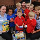 Children from Busy Bees Nursery in Thetford have been collecting food items for the Foodbank. Nurser