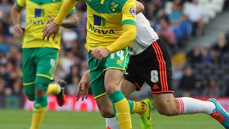 Norwich City midfielder Wes Hoolahan is ruled out until December with ankle ligament damage. Picture