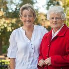 Jackie Knowles, left, and Ruth Perfitt who defied medics after receiving liver transplants. Photo: B