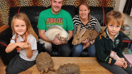 Jamie and Michelle Mintram, along with their children Josh and Chloe share their Weeting home and ga