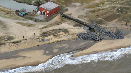Benacre sluice from the air. Picture: MIKE PAGE