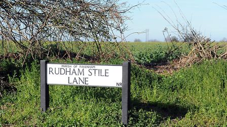 Part of the site for the Fakenham Growth plans on Rudham Stile Lane. Picture: Matthew Usher.