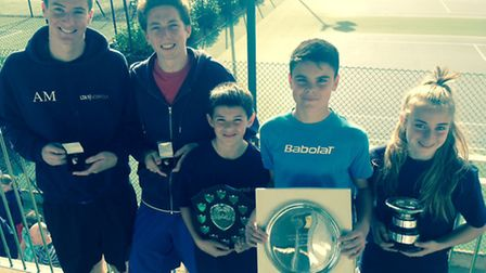 The annual Norfolk junior county tennis awards have been presented, including to (from left) Alex Mc