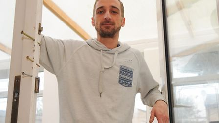 Tommy Georgious's Thetford home was burgled in May and he's still waiting for insurance money to pay