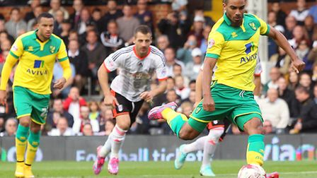 Lewis Grabban hammered his penalty against the bar in the recent 1-0 Championship defeat at Fulham.