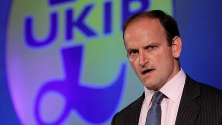 UKIP's Douglas Carswell delivers his speech during the UKIP annual conference at Doncaster racecours