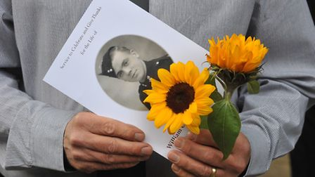Family, friends and civic leaders gathered to remember Norwich in Bloom stalwart Bill Webster. Photo