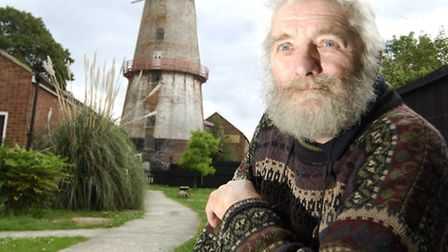 Chris Nunn outside Sutton mill. Picture: ARCHANT LIBRARY