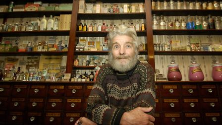 Chris Nunn in the museum's Victorian pharmacy. Picture: ARCHANT LIBRARY