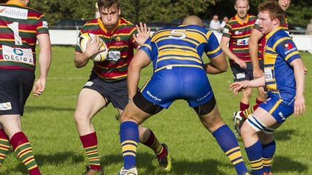 Norwich (stripes) face a difficult trip to St Albans on Saturday. Photo: ANDY MICKLETHWAITE