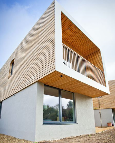 The house project at Honingham which will feature on TV's Grand Designs show on October 8. Picture;