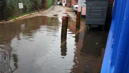 Flooding at the RSPCA shop in Attleborough. Picture: Submitted
