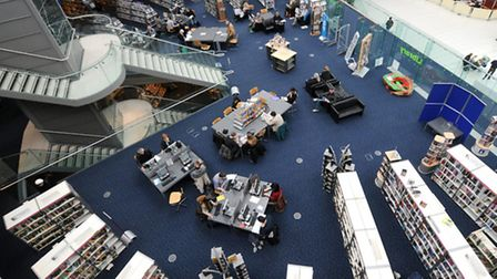 The Norfolk and Norwich Millenium Library in the Forum. Photo: Paul Hewitt Copy:EDP Reporters For:ED