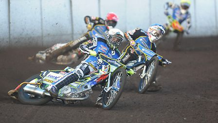 Darcy Ward, white, is still banned from competing. Picture: IAN BURT