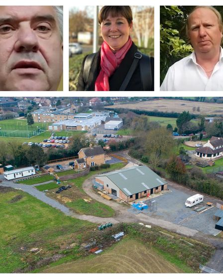 Manor Farm, Girton: Top (left from): Cllr Roger Hickford, the tenant and deputy leader of the county council. Gillian...