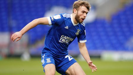 Aaron Drinan in action against Peterborough United.