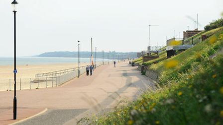 The view south along the promenade at Gorleston towards Hopton on the east coast of Norfolk.Picture: