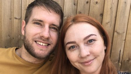 Jasmine Carter. 27, pictured withfiancé Grant Salisbury, are due to get married in October this year.