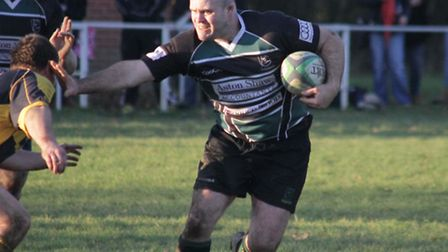 Stuart Loose in action for North Walsham.