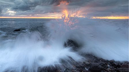 When surf meets sky by Paul Richardswas among the award winners in North Norfolk Photographic Society's latest contest.