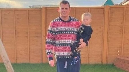 Whittlesey dad Robert Evans has lost more than four stone in a year.. After photo