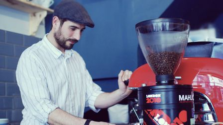 Alex Sargeant director of Strangers Coffee Company based in Norwich.