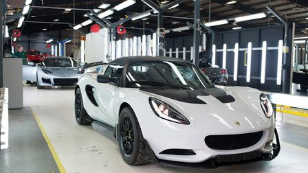 The Lotus production line at its Hethel factory. Picture: Jarowan Power.