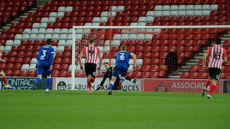 Tomas Holy is sent the wrong way for a late second half penalty against Ipswich at Sunderland Pictur