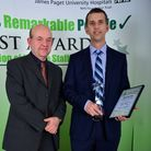 James Paget University Hospitals Remarkable People Awards.David Adams and Shaun Healey (picture is o