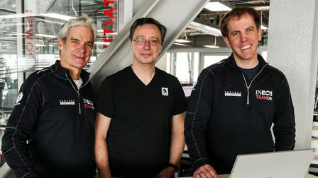 Left to Right: Grant Simmer (CEO of Britain's America's Cup Team), Mark Thomas (Founder CEO of Coderus), Andrew Bryson...