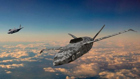 Undated handout image issued by the Ministry of Defence (MoD) of an unmanned combat aircraft nicknam