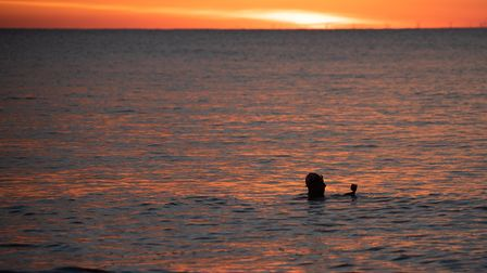 Well known local photographer Tony Pick is swimming in the sea every day throughout the winter after