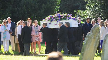 The funeral service of Hannah Witheridge from Hemsby who was murdered on the Thai Island of Koh Tao.