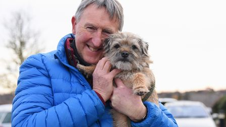 Owner Mark Allbrook is happy to have six-year-old Skye back after she had to have stitches at Taverh