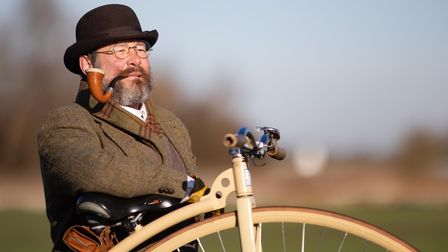 Whittlesey man spotted on penny-farthing