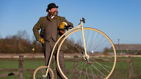 Whittlesey adventurer with penny-farthing