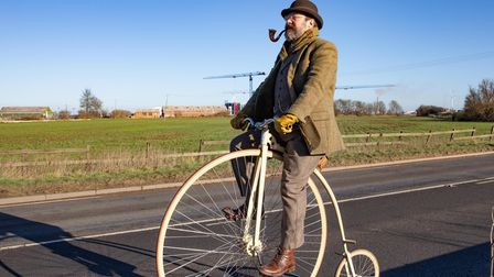 Whittlesey adventurer rides penny-farthing