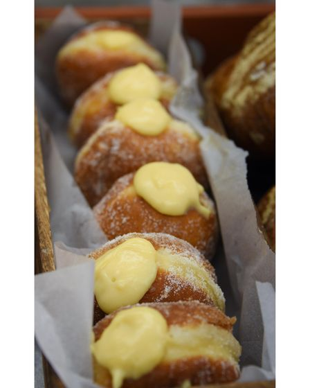 Custard doughnuts at Dollies Bakery at Coltishall. Picture: DENISE BRADLEY