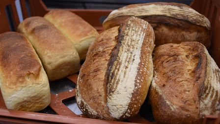 Sour dough, wholemeal and white loaves at Dollies Bakery at Coltishall. Picture: DENISE BRADLEY