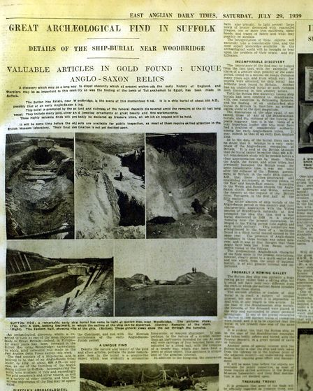 The EADT Sutton Hoo exclusive in 1939